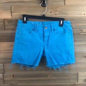 ⭐️Madewell blue raw hem denim shorts Size 26 ⭐️